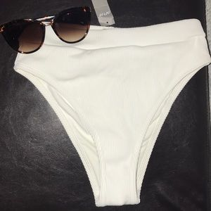 High waisted swim bottoms from aerie